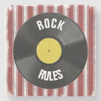 Rock Rules Stone Coaster