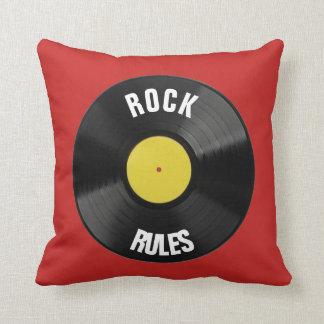 Rock Rules Throw Pillow