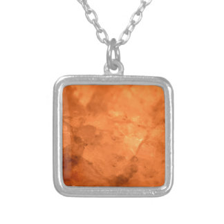 Rock Salt Lamp Silver Plated Necklace