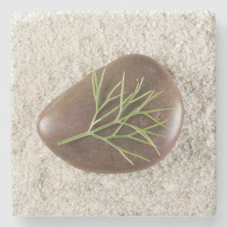Rock, Sand & Seaweed Marble Coaster Stone Beverage Coaster