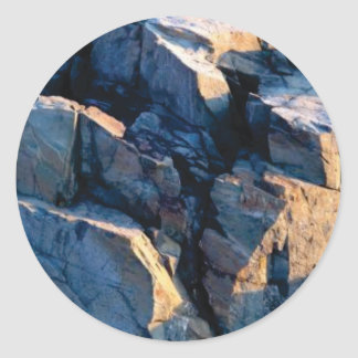 rock shadow texture classic round sticker