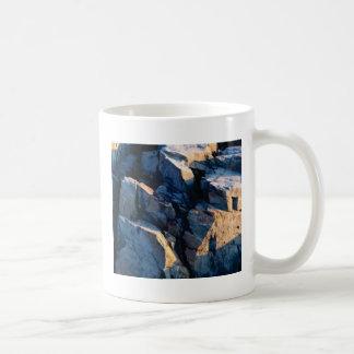 rock shadow texture coffee mug