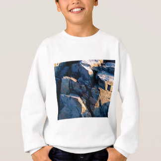 rock shadow texture sweatshirt