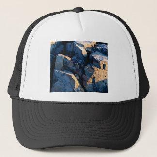 rock shadow texture trucker hat