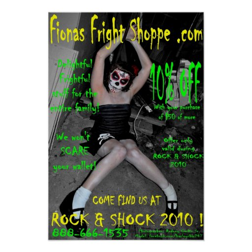 Rock & Shock 2010 LDD POSTER - Pick Your Size!