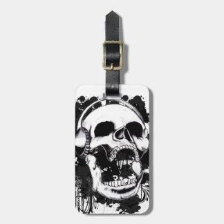 Rock Skull Luggage Tag