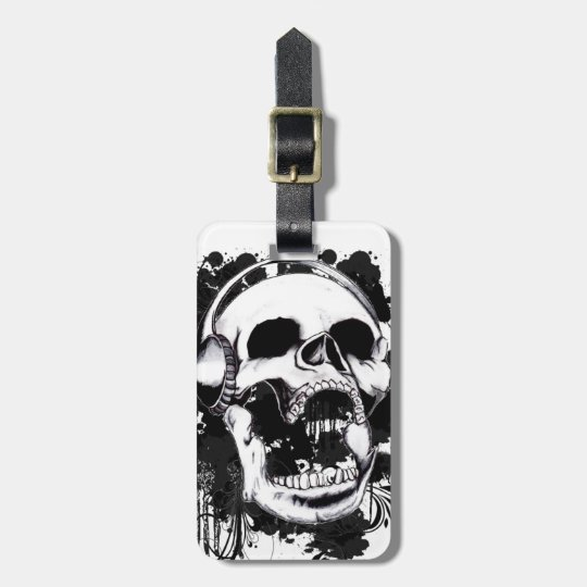Rock Skull Luggage Tag