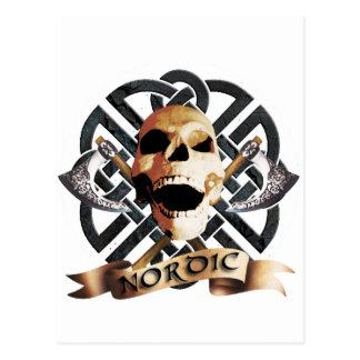 rock skull postcard