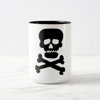 Rock Skull Two-Tone Coffee Mug