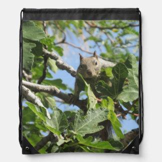 Rock Squirrel Drawstring Bag