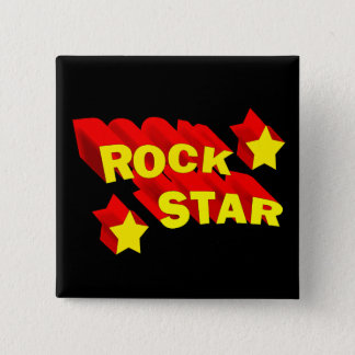 Rock Star 2 Inch Square Button