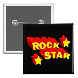 Rock Star 2 Inch Square Button