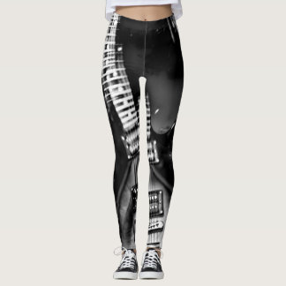 Rock Star an abstract electric guitar photograph Leggings