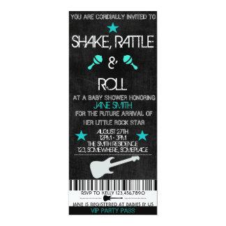 Rock Star Baby Shower Card