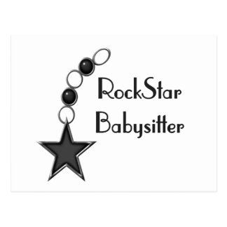 Rock Star Babysitter Postcard