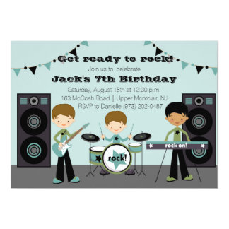 Rock Star Birthday Invitation