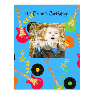 Rock Star Boy birthday party invitation