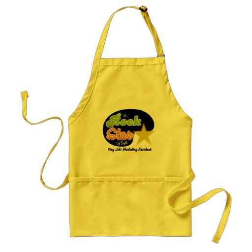 Rock Star By Night - Day Job Marketing Assistant Apron