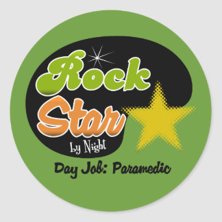 Rock Star By Night - Day Job Paramedic Stickers