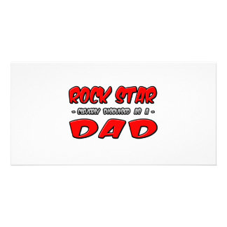 Rock Star...Dad Photo Card Template