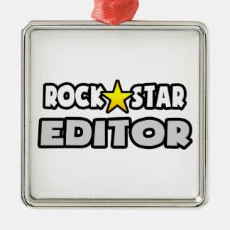 Rock Star Editor Metal Ornament