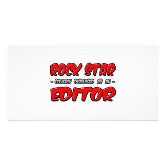Rock Star...Editor Photo Greeting Card