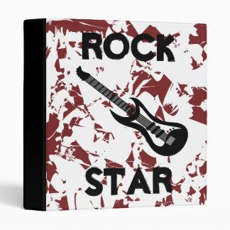 Rock Star Electric Guitar Back to School Binder