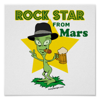 Rock Star From Mars Poster