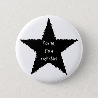 Rock star fun 2 inch round button