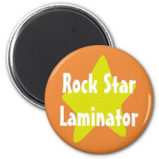 Rock Star Laminator Orange Magnet