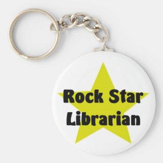 Rock Star Librarian Keychain