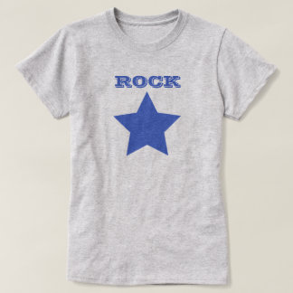 ROCK STAR   Navy Blue Star Women's Basic T-Shirt