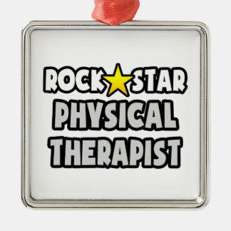 Rock Star Physical Therapist Metal Ornament