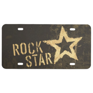 Rock Star Plastic License Plate