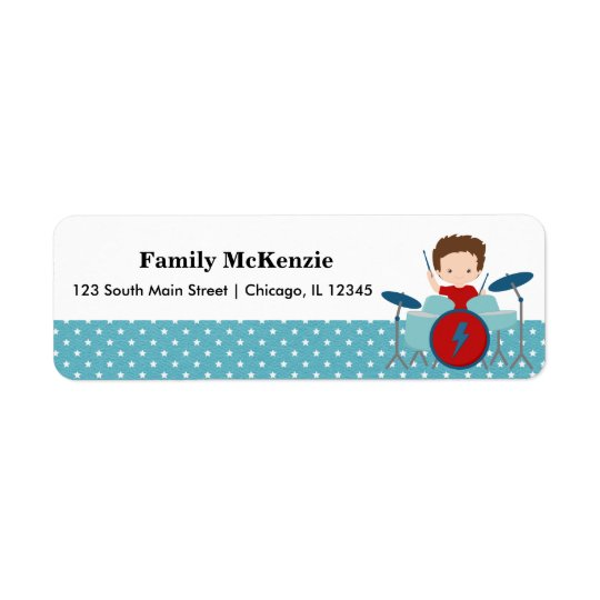 Rock Star Return Address Label