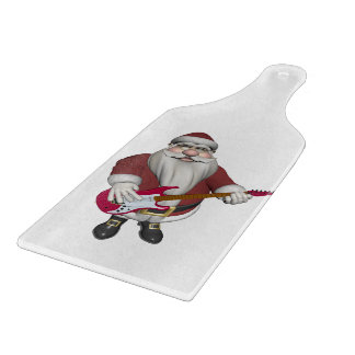 Rock Star Santa With Red Electric Guitar Cutting Boards