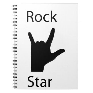 Rock star spiral notebooks