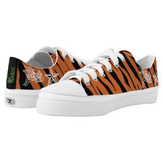 Rock Star Tiger Stripe Canvas Sneakers