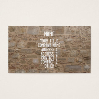 Rock & Stone Wall Business Card