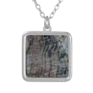 rock stripes silver plated necklace