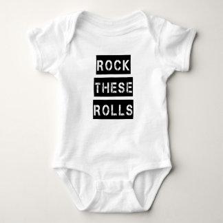 Rock these Rolls funny chubby baby boy shirt