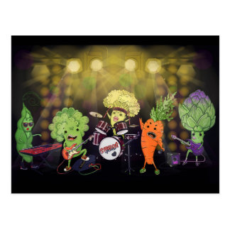 Rock Vegan Band Postcard