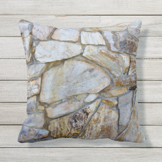 Rock Wall Texture Photo on Pilllow Throw Pillow