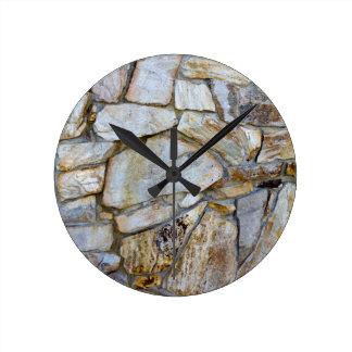 Rock Wall Texture Photo on Wall Clock