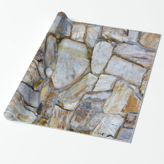 Rock Wall Texture Photo on Wrapping Paper