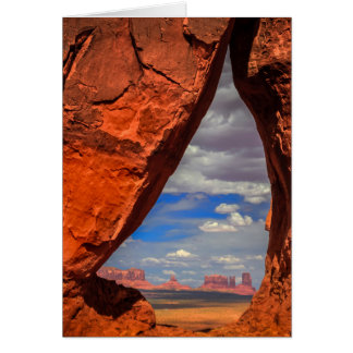 Rock window to Monument Valley, AZ Card