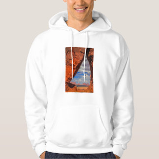 Rock window to Monument Valley, AZ Hoodie