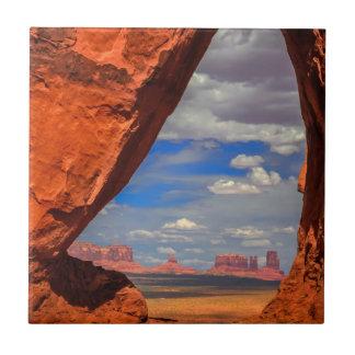 Rock window to Monument Valley, AZ Tiles