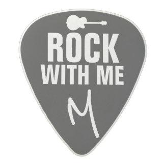 rock with me / rock-you B/W Acetal Guitar Pick