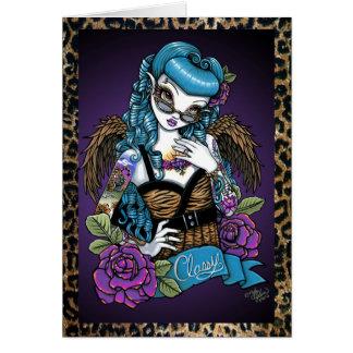 Rockabilly Baby Tattoo Angel Greeting Card